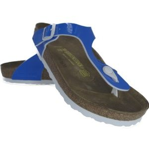 Birkenstock Gizeh (Patent Neon Blue) [0847361]